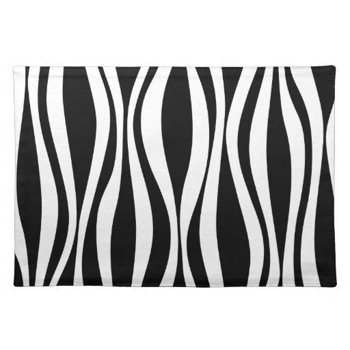 black and white zebra pattern placemat zazzle. Black Bedroom Furniture Sets. Home Design Ideas