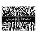 Black and White Zebra Personalized Wedding Personalized Invites