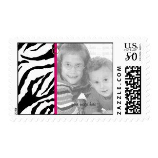 Black and White Zebra Photo Template Postage