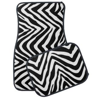Black and White Zebra Print Car Mat