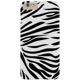 Black and White Zebra Print Barely There iPhone 6 Plus Case