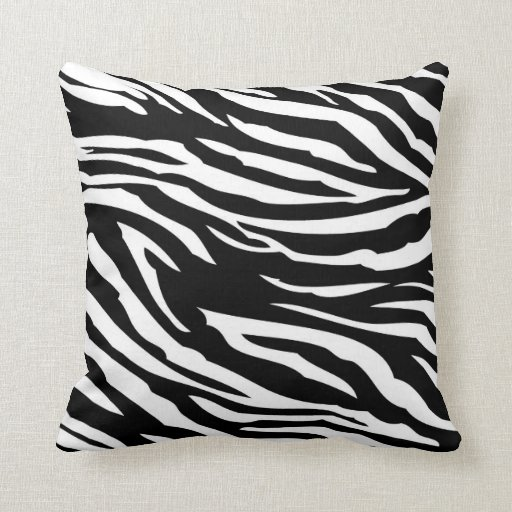 Black and White Zebra Print Couch Throw Pillow Zazzle
