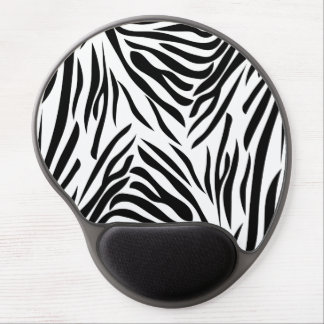 Black and White Zebra Print Gel Mouse Pad