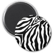 Black and White Zebra Print Magnet
