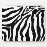 Black and White Zebra Print Mouse Pad