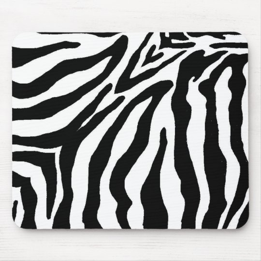 Black and White Zebra Print Mouse Pad