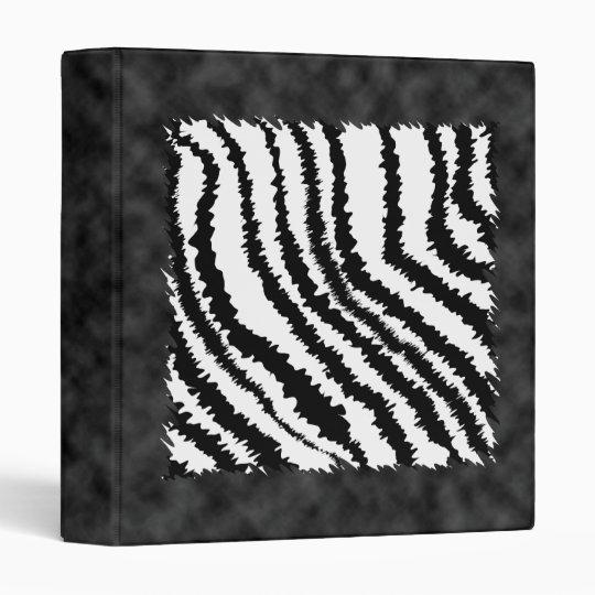Black and White Zebra Print Pattern. 3 Ring Binder