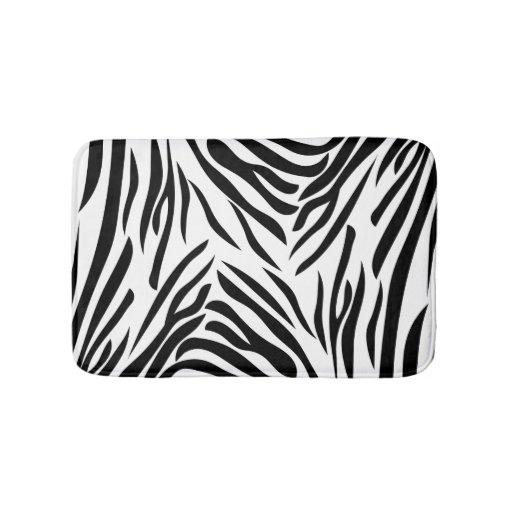 Black And White Zebra Print Pattern Bathroom Mat Zazzle