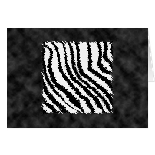 Black and White Zebra Print Pattern. Greeting Cards
