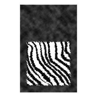 Black and White Zebra Print Pattern. Flyers