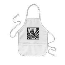 Black and White Zebra Print Pattern. Kids' Apron