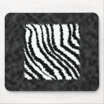 Black and White Zebra Print Pattern. Mousepads