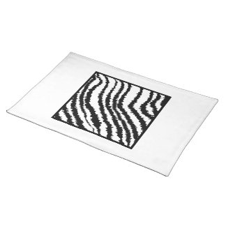 Black and White Zebra Print Pattern. Cloth Place Mat