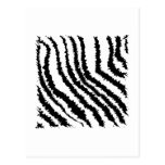 Black and White Zebra Print Pattern. Post Cards