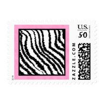 Black and White Zebra Print Pattern. Postage