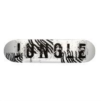 Black and White Zebra Print Pattern. Skateboard Deck