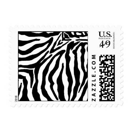 Black and White Zebra Print Postage