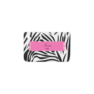 Black and White Zebra Print with Hot Pink Business Card Holder