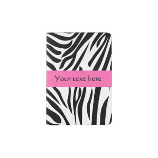 Black and White Zebra Print with Hot Pink Passport Holder