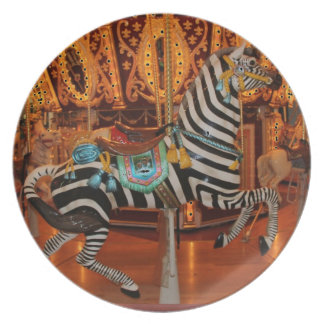 Black and White Zebra Products Dinner Plate