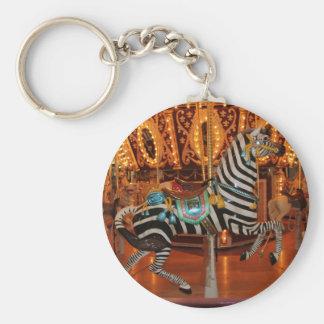 Black and White Zebra Products Keychain