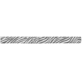 Black and White Zebra Stripe Pattern Hair Tie