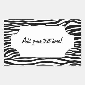 Black and White Zebra Stripe Square Sticker