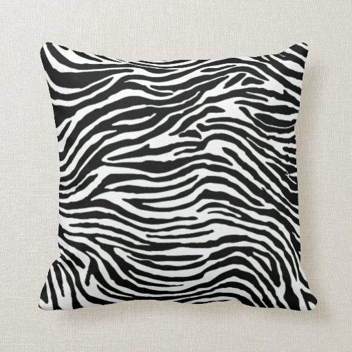 Black And White Zebra Throw Pillows : black and white zebra stripe throw pillow