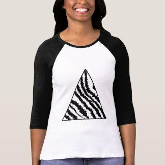 Black and White Zebra Stripe Triangle. Monochrome. T-Shirt
