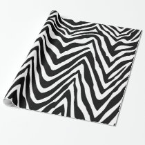 Black and White Zebra Stripes Animal Print Wrapping Paper