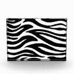 Black and White Zebra Stripes Award
