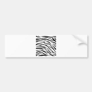 Black and White Zebra Stripes Car Bumper Sticker