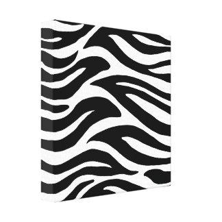 Black and White Zebra Stripes Canvas Print