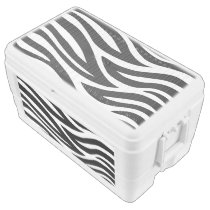 Black and White Zebra Stripes Chest Cooler