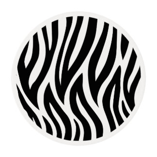 Black and White Zebra Stripes Edible Frosting Rounds