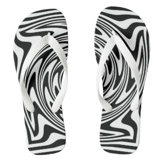 Black and White Zebra Stripes Flip Flops