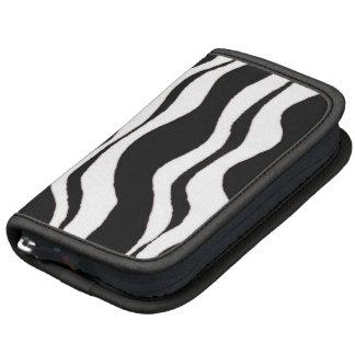 Black and White Zebra Stripes Folio Planner