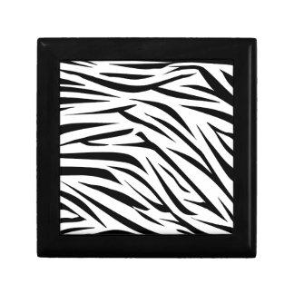 Black and White Zebra Stripes Jewelry Box