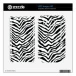 Black and White Zebra Stripes HTC Inspire 4G Skins