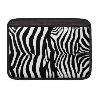 Black And White Zebra Stripes Mac Airbook Sleeve