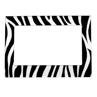 Black and White Zebra Stripes Magnetic Frame