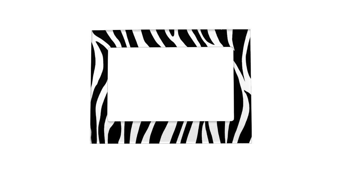 Black and White Zebra Stripes Magnetic Frame | Zazzle.com