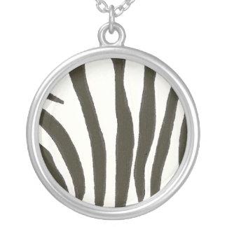 Black and White Zebra Stripes necklace
