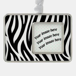 Black and White Zebra Stripes Ornament