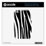 Black and White Zebra Stripes Pattern Skins iPod Touch 4G Decals