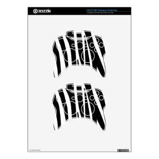 Black and White Zebra Stripes Pattern Skins Xbox 360 Controller Skins