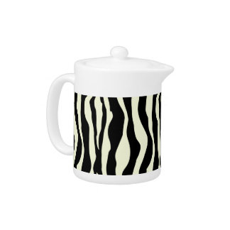 Black And White Zebra Stripes Pattern Tea Pot