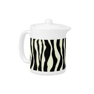 Black And White Zebra Stripes Pattern Tea Pot