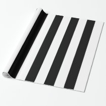 Black and white zebra stripes pattern wrapping paper