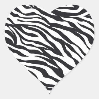Black and White Zebra Stripes Print Pattern Gifts Heart Sticker